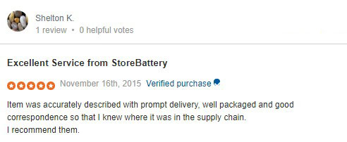 store battery UK review